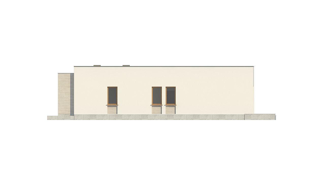 Одноэтажный дом в современном стиле, с большими застекленными окнами 21