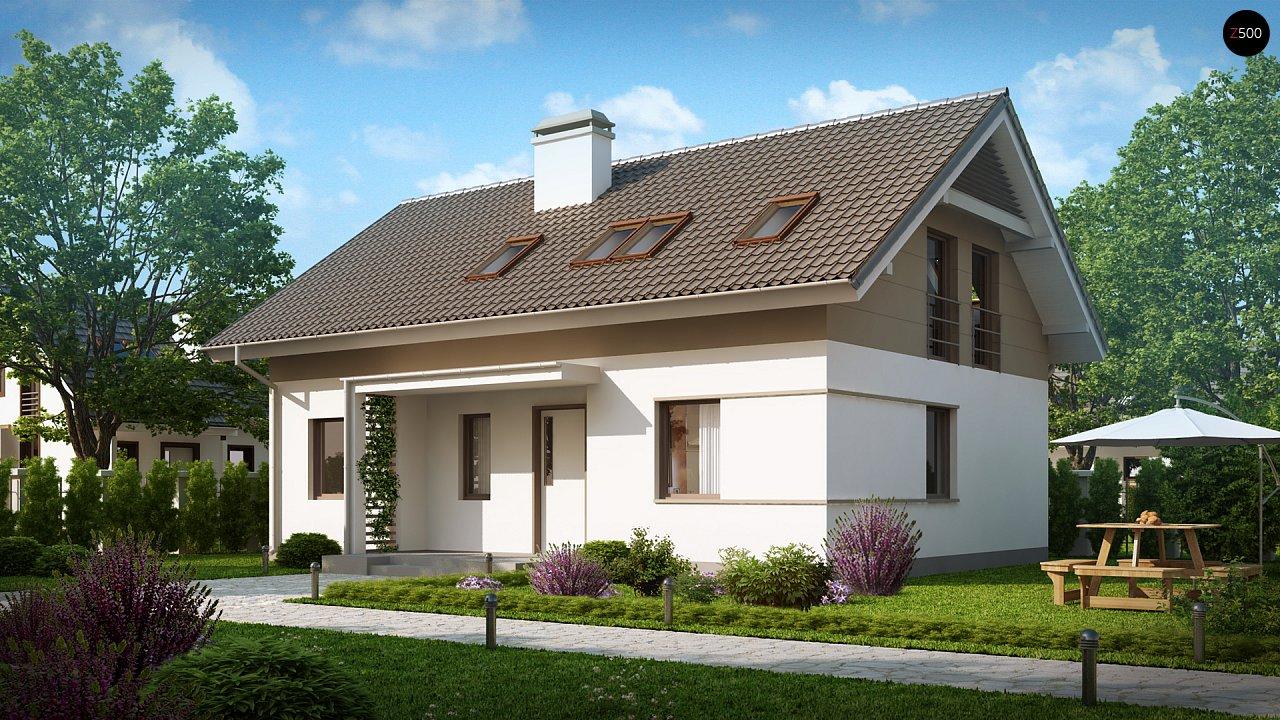 Проект простого и аккуратного дома с дополнительной ночной зоной на первом этаже. 2