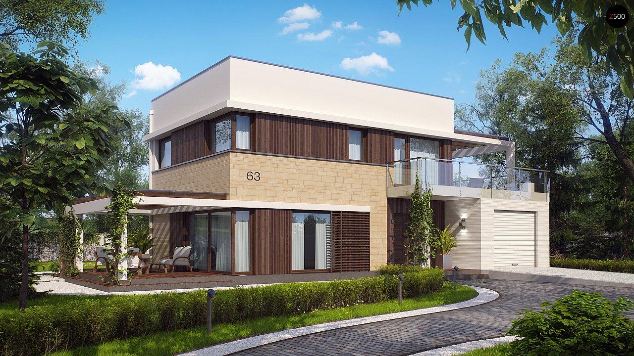 Современный элегантный дом с гостиной с фронтальной стороны. - фото 2