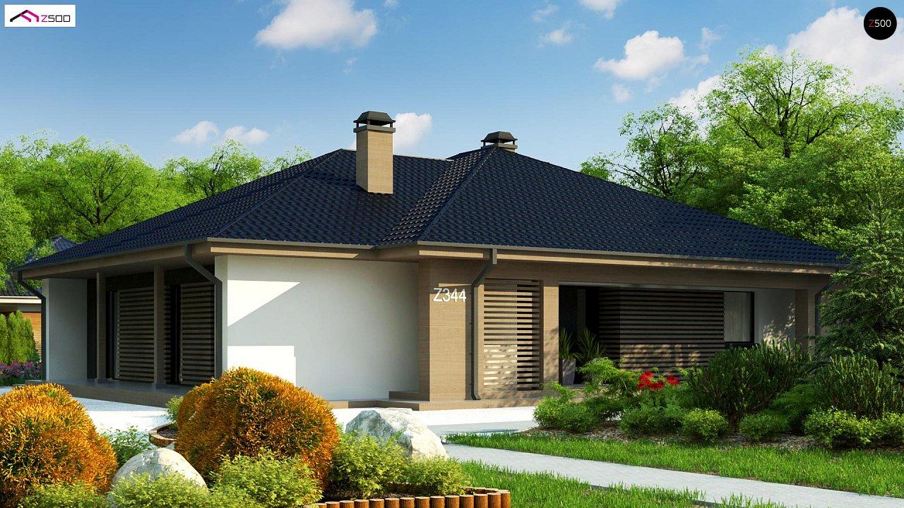 Компактный одноэтажный дом стильного дизайна 3
