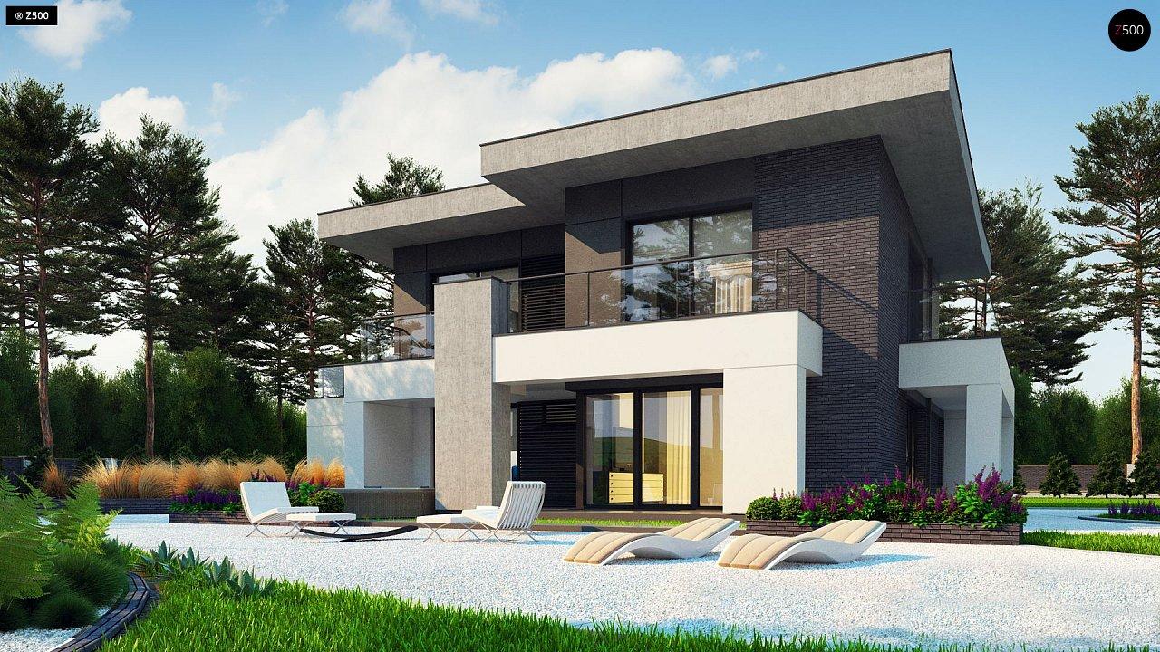 Современный стильный двухэтажный дом, с гаражом для двух машин 4