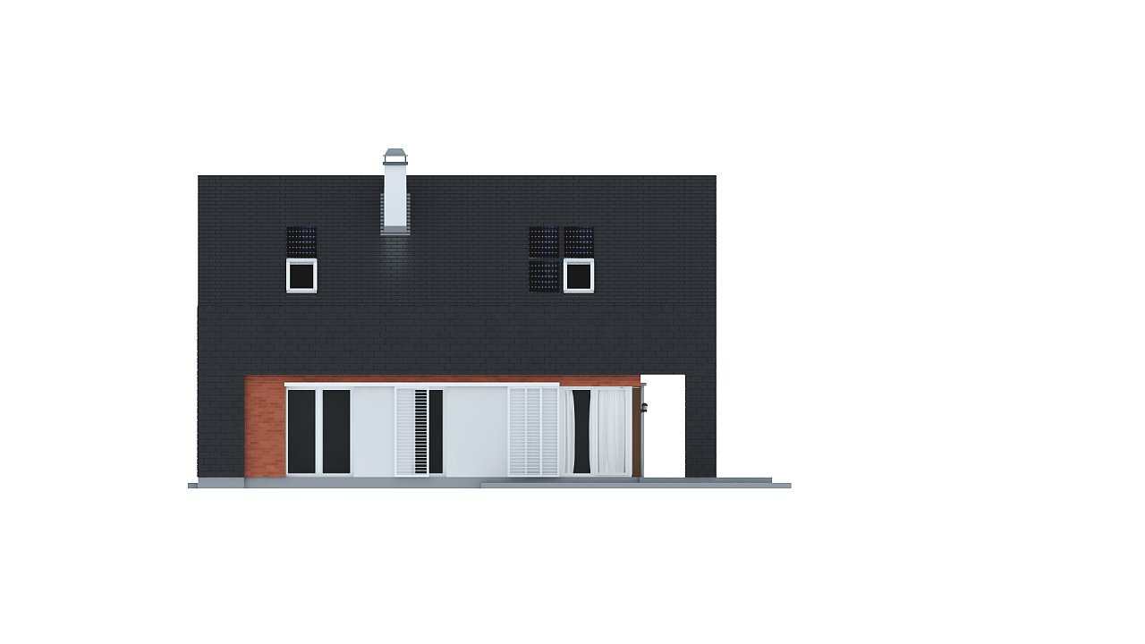 Практичный и уютный дом с модернистскими элементами в архитектуре. 15