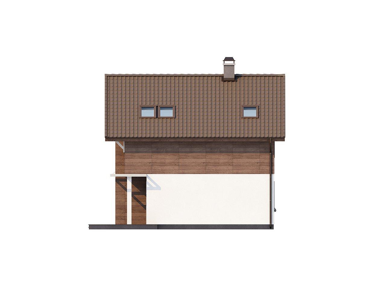 Проект двухэтажного дома с большой площадью остекления. 5