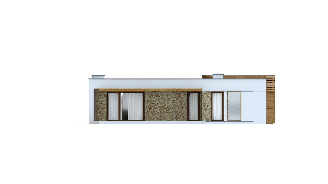 Современный комфортабельный одноэтажный дом с функциональным интерьером и уютной террасой. 26