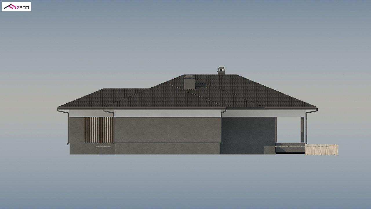 Проект стильного одноэтажного дома в традиционном стиле - фото 11