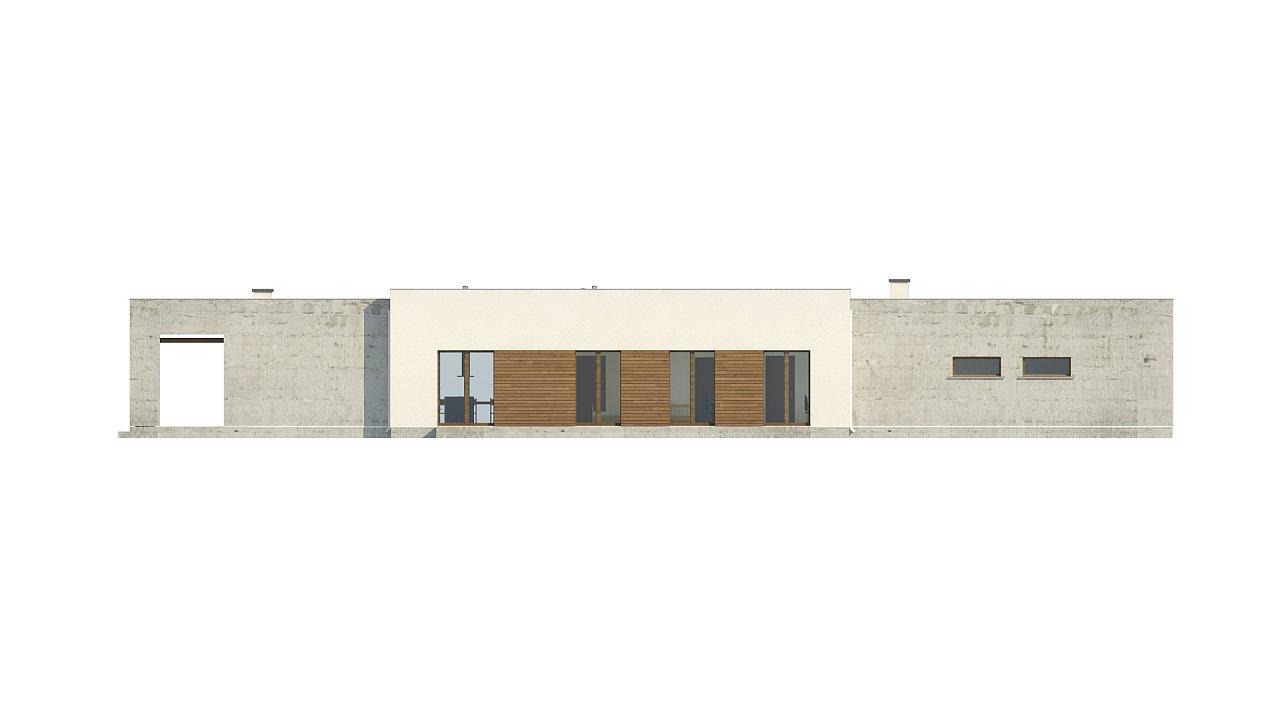 Комфортный одноэтажный дом для узкого участка. 7