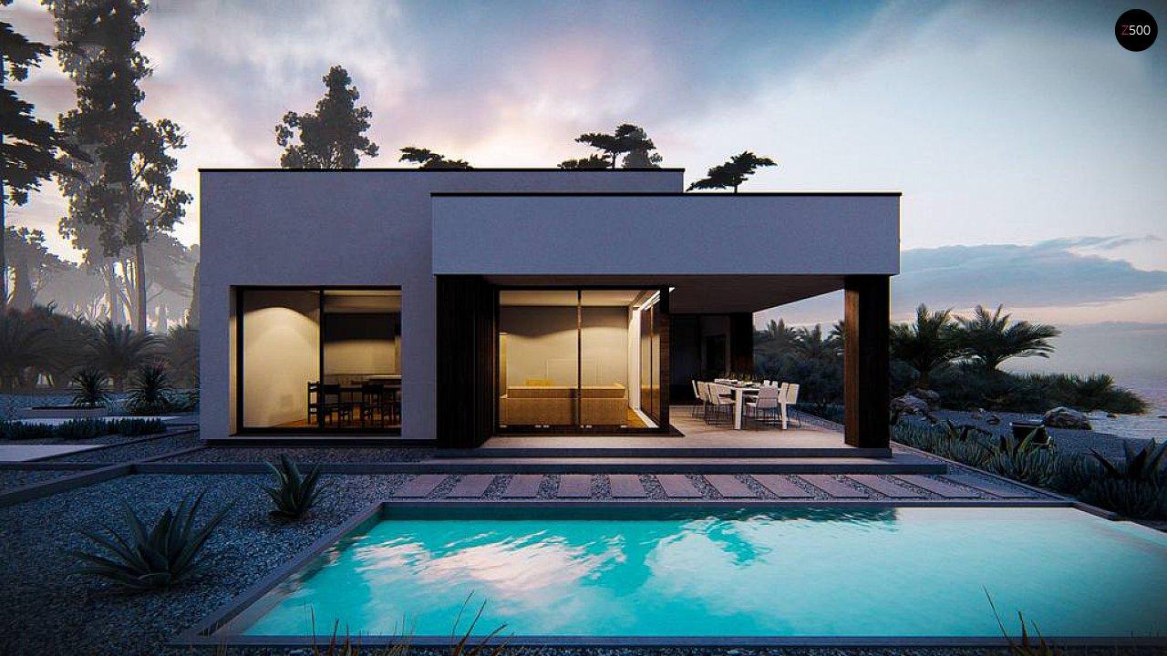 Современный одноэтажный дом с плоской крышей 3
