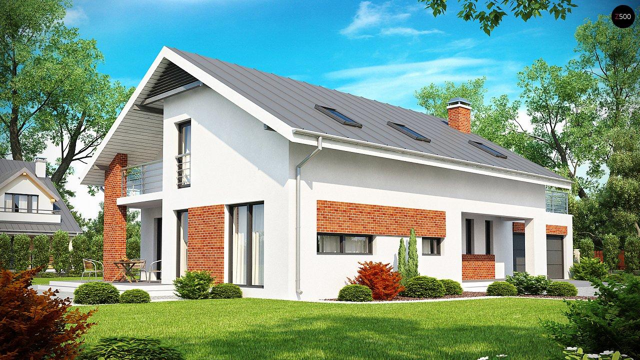 Просторный и комфортный дом со встроенным гаражом и двумя спальнями на первом этаже. 1