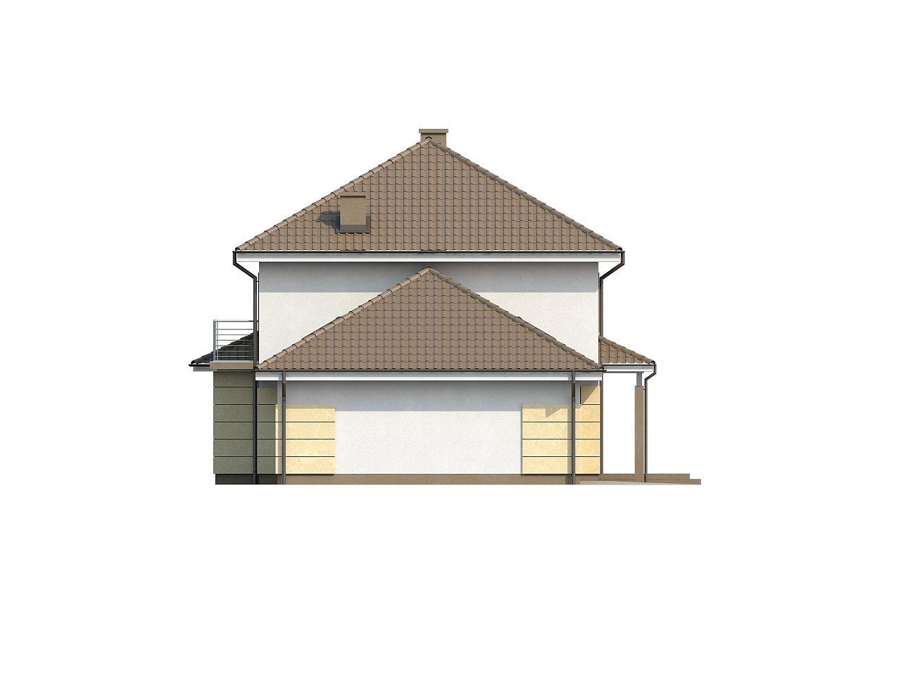 Просторный и функциональный двухэтажный дом с многоскатной кровлей и гаражом. - фото 6