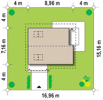 Практичный функциональный дом, недорогой в строительстве и эксплуатации. план помещений 1