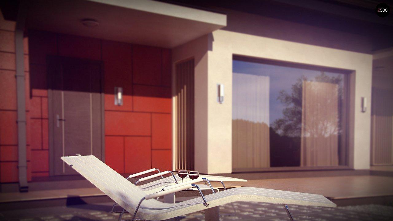 Практичный дом со встроенными гаражом, с большой площадью остекления в гостиной. - фото 4