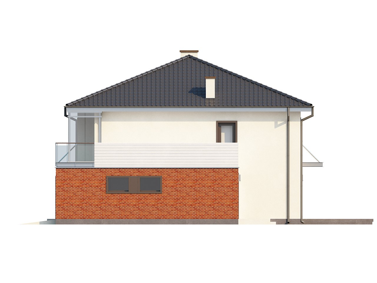 Комфортабельный двухэтажный дом простой формы со стеклянным эркером над гаражом. - фото 6