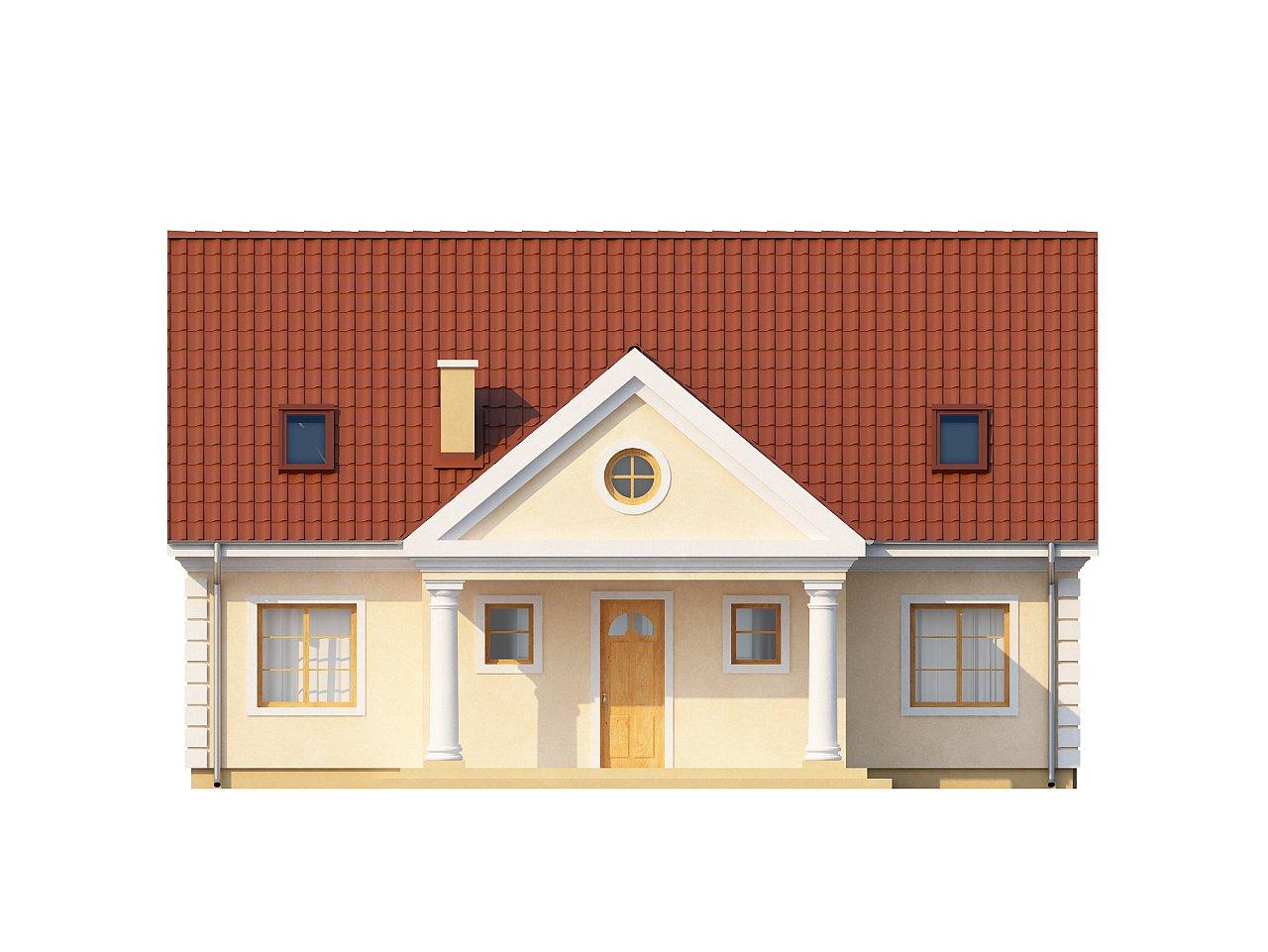 Аккуратный дом с мансардой и дополнительной спальней на первом этаже. - фото 3