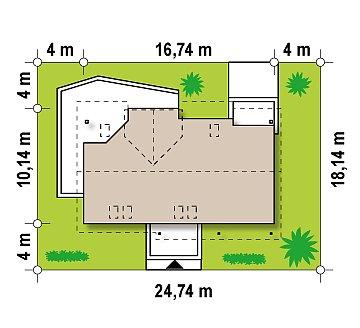 Комфортабельный дом со встроенным гаражом, угловой террасой и кабинетом на первом этаже. план помещений 1