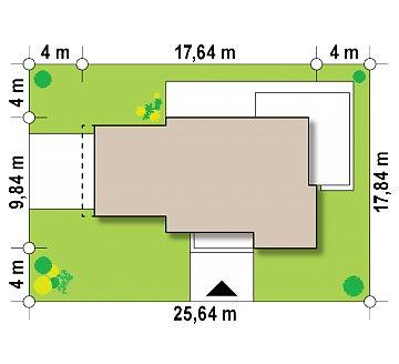 Добротный особняк модернистского характера с большой площадью остекления. план помещений 1