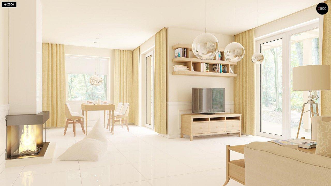Проект компактного одноэтажного дома, экономичного как в строительстве, так и в эксплуатации. 6
