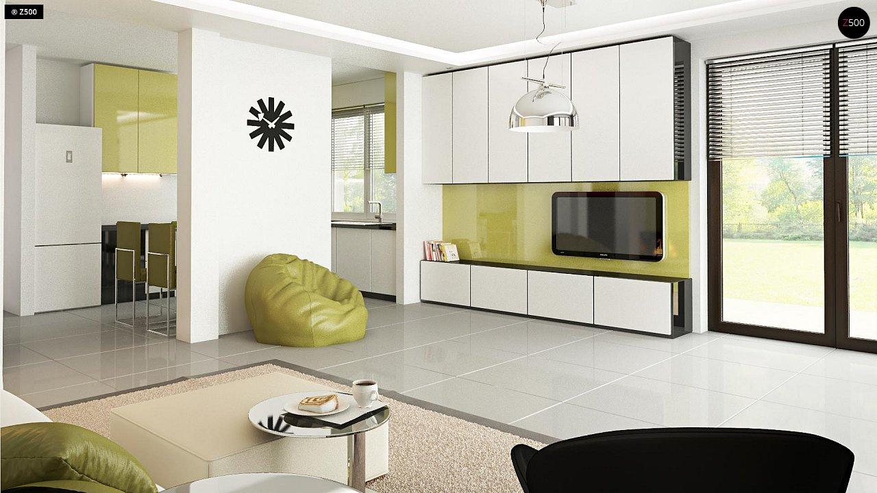 Функциональный и привлекательный дом с гаражом для узкого участка. 8