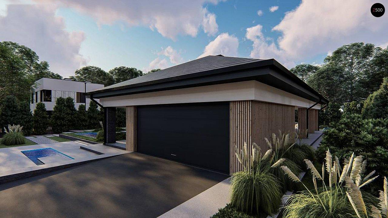 Одноэтажный проект дома на два автомобиля 4