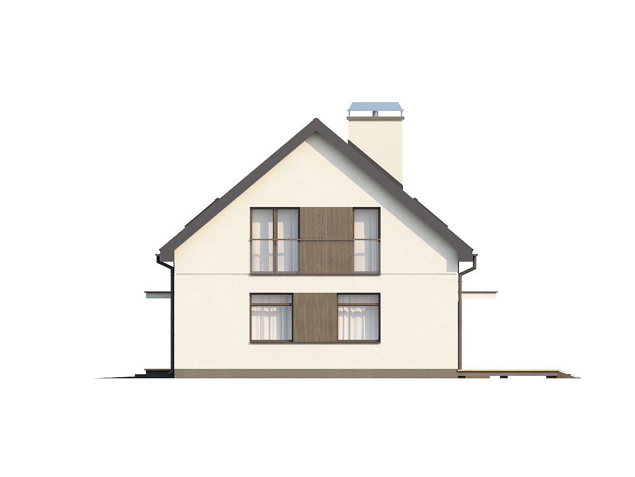 Функциональный традиционный дом с современными элементами в архитектуре, со встроенным гаражом. 16