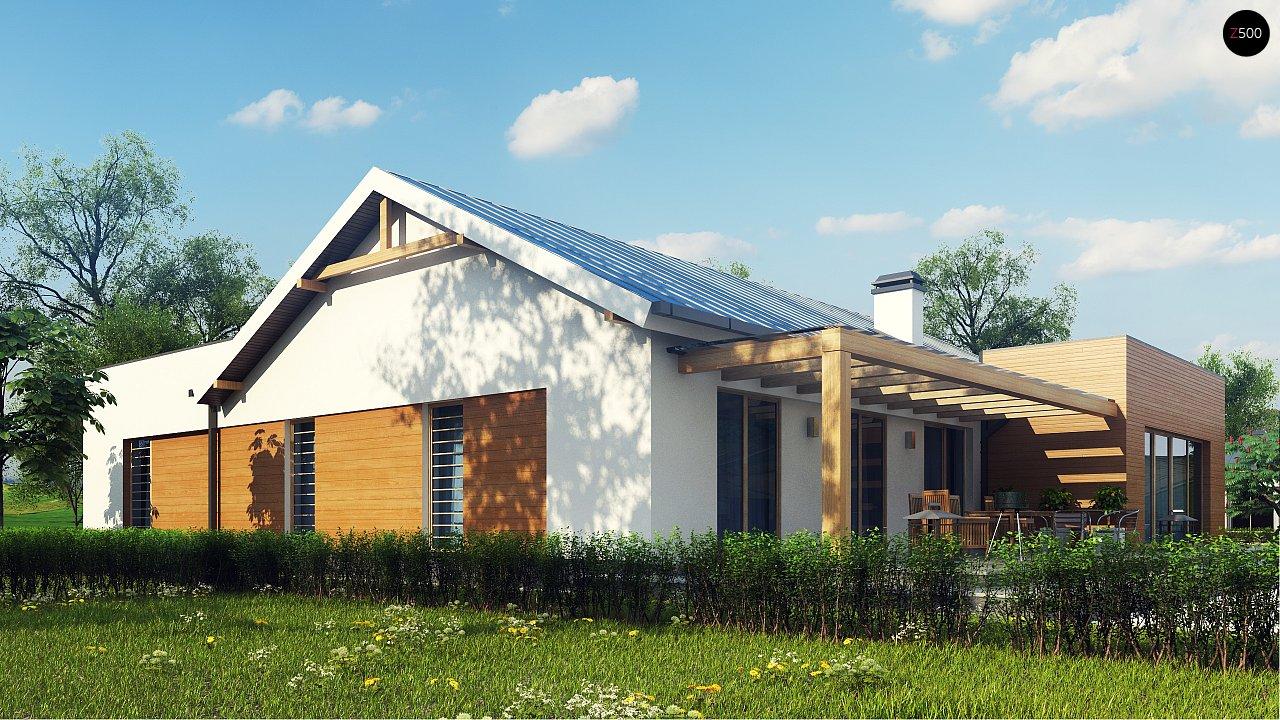 Комфортный функциональный одноэтажный дом простой формы и с гаражом для двух авто. 4