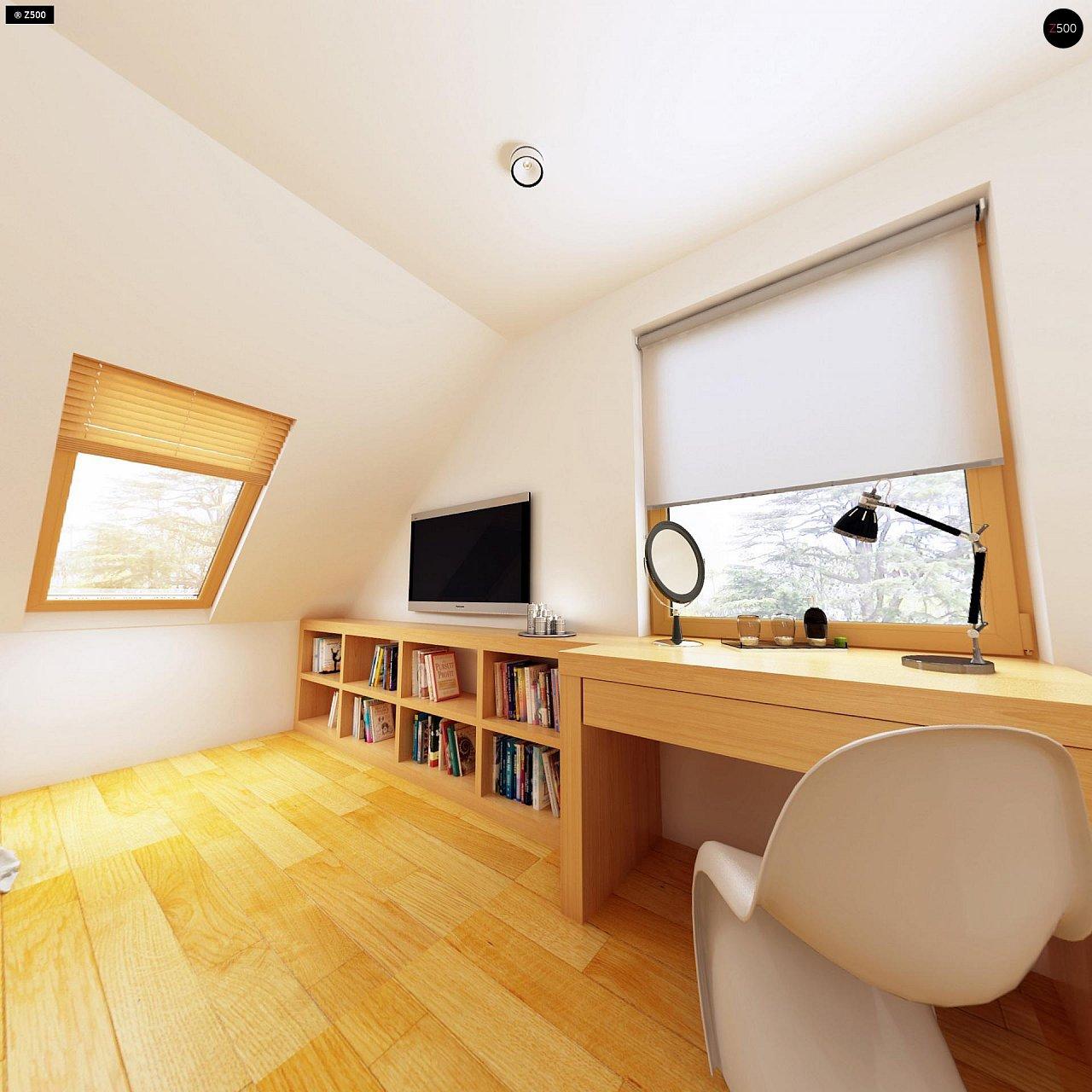 Практичный дом для небольшого участка, простой в строительстве, дешевый в эксплуатации. 11