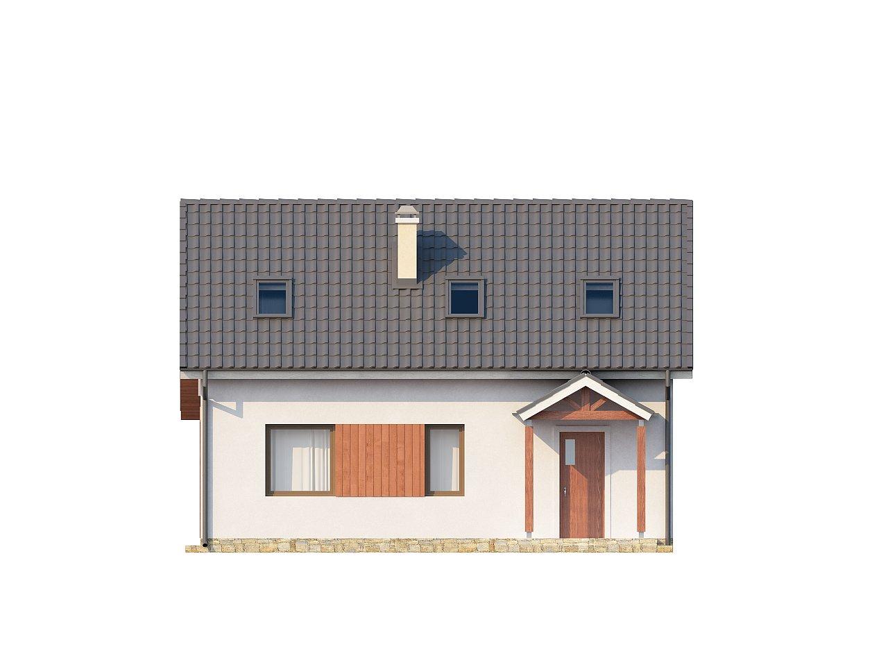 Простой и экономичный дом с мансардой и дополнительной комнатой на первом этаже. 9