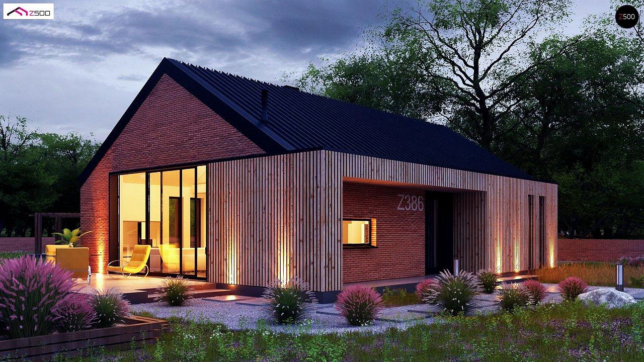 Одноэтажный дом с дополнительным пространством на чердаке 5