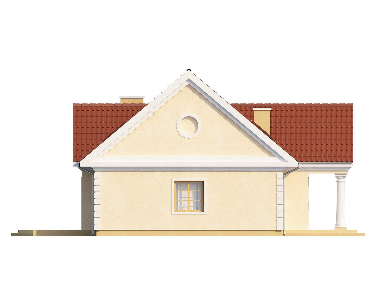Аккуратный дом с мансардой и дополнительной спальней на первом этаже. - фото 5
