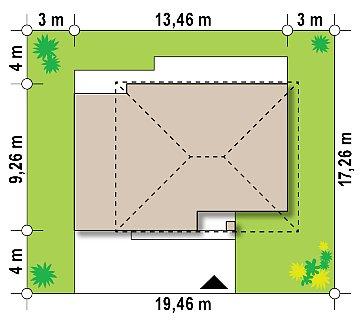 Обновленный вариант Z29 с гаражом и комнатой на первом этаже план помещений 1