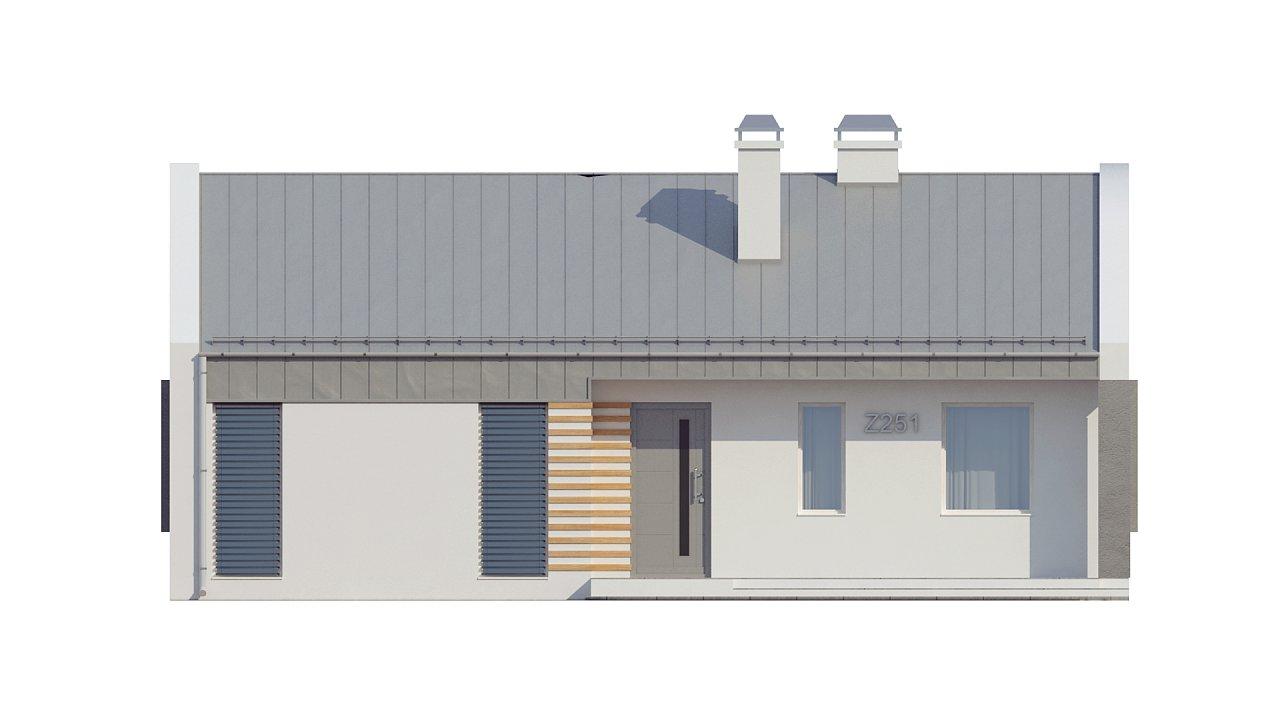 Простой и недорогой в строительстве энергосберегающий дом современного дизайна. 17
