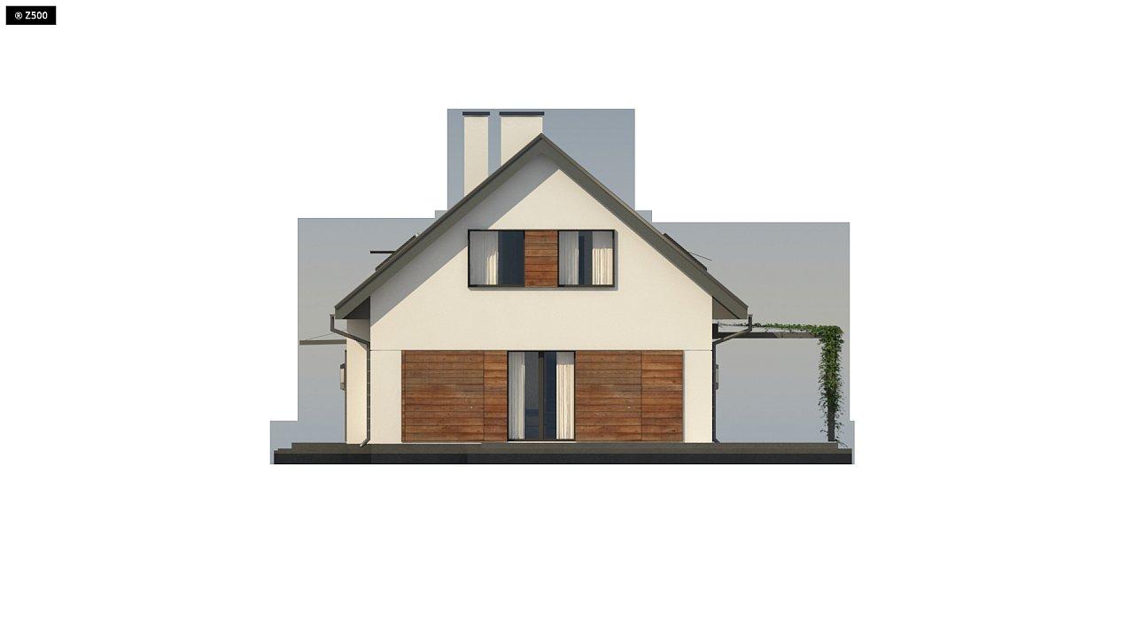 Аккуратный мансардный дом с гаражом для двух автомобилей 10