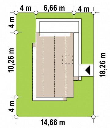 Проект одноэтажного дома с двускатной крышей для небольшого участка план помещений 1