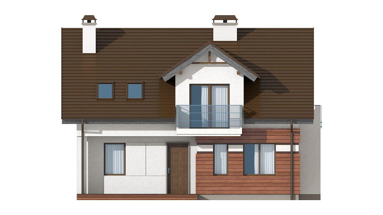 Версия проекта Z28 с небольшими изменениями в планировке, современным дизайном фасадов. - фото 3