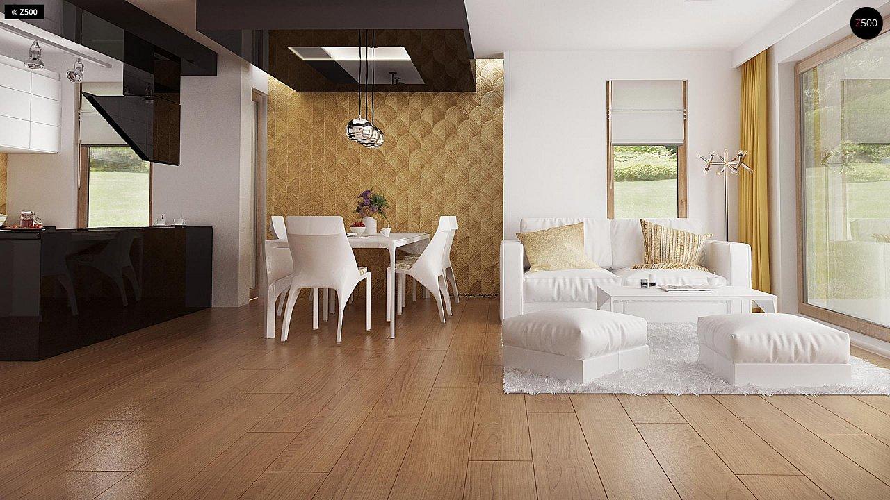Одноэтажный комфортный дом в стиле хай-тек. 15