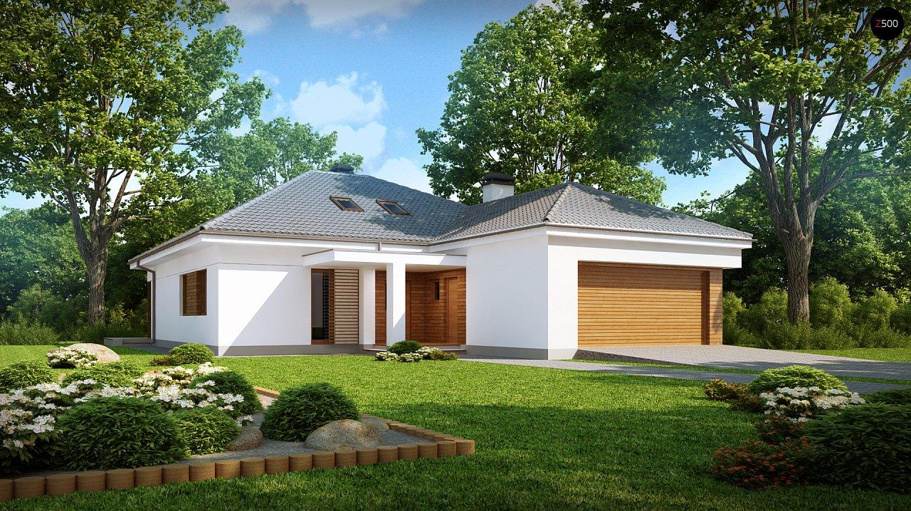 Практичный одноэтажный дом с гаражом, с возможностью адаптации мансарды. 1