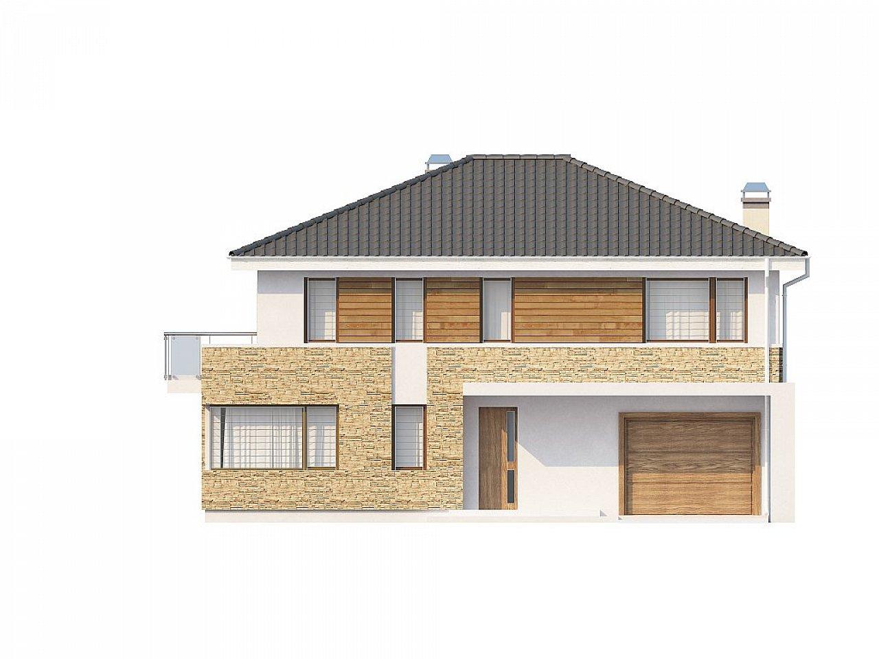 Двухэтажный современный дом под сейсмику 6