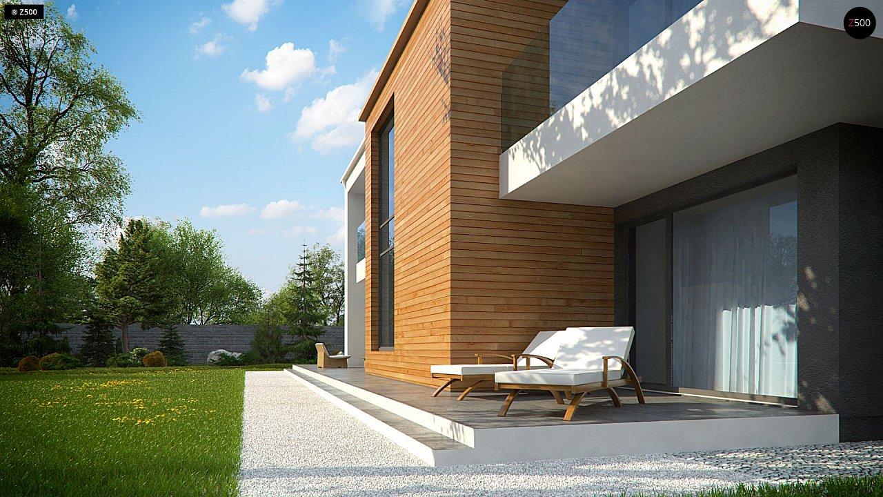 Современный двухэтажный дом с большим остеклением и гаражом на две машины 8