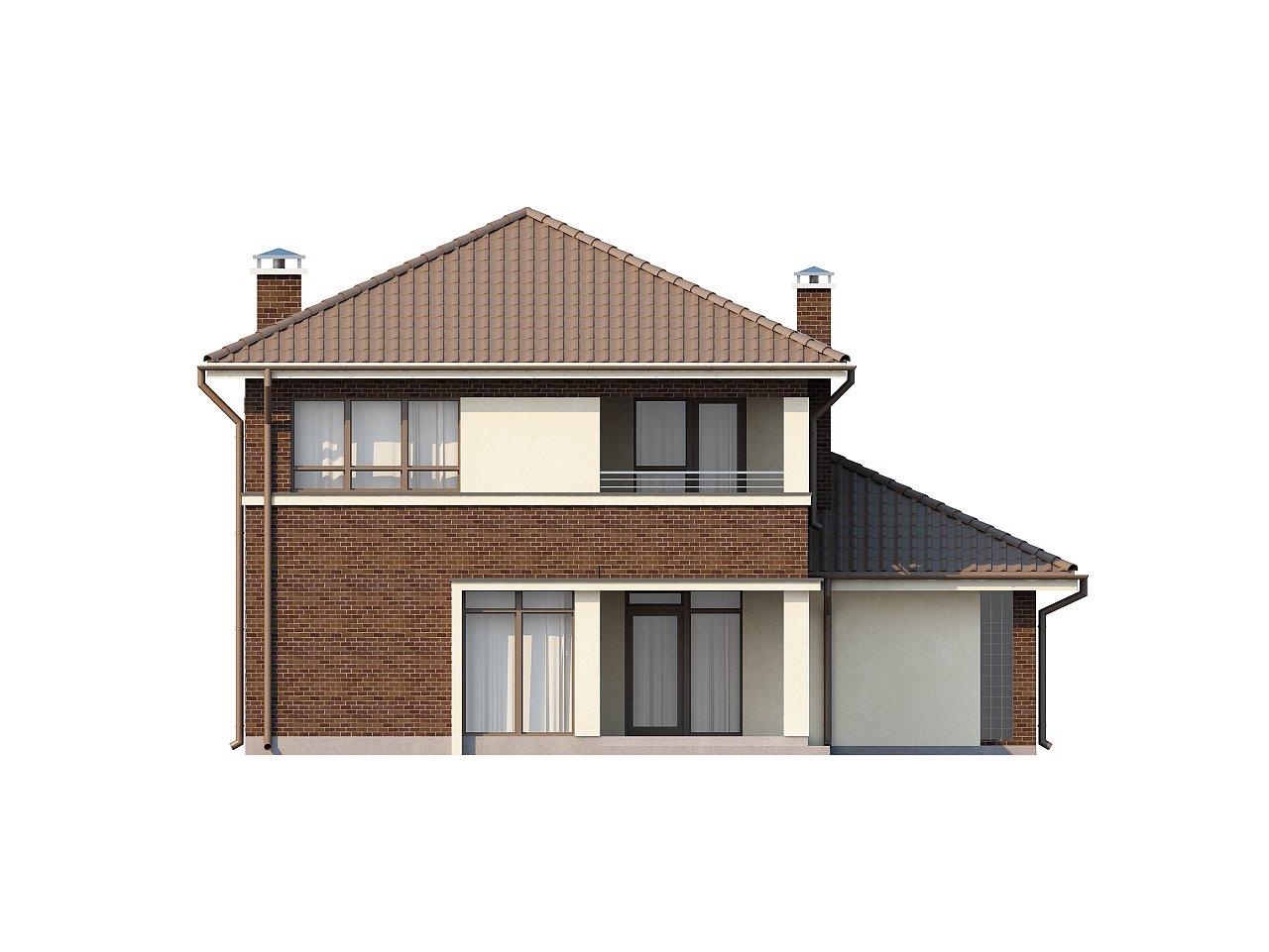 Элегантный двухэтажный дом с боковым гаражом и кабинетом на первом этаже. 23
