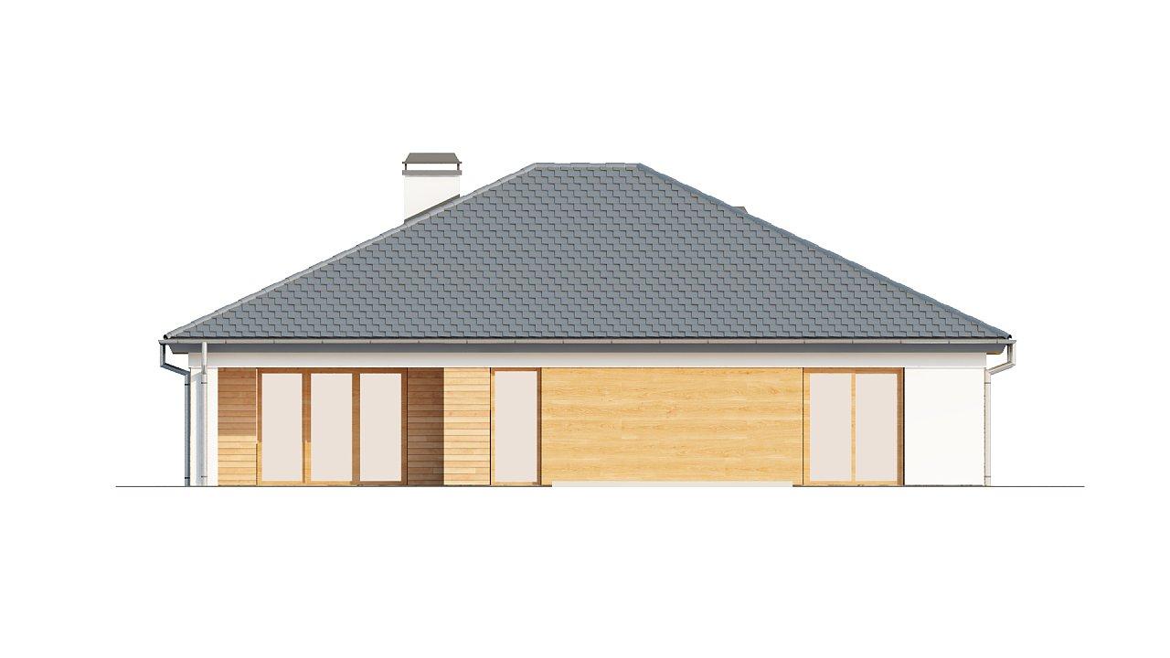Комфортный одноэтажный дом с выступающим фронтальным гаражом для двух машин. 19