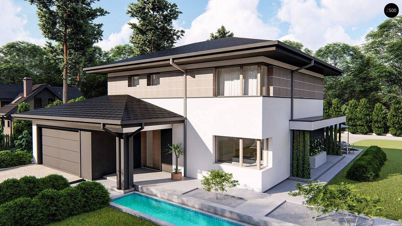 Вариант двухэтажного дома Z426 с многоскатной крышей 1