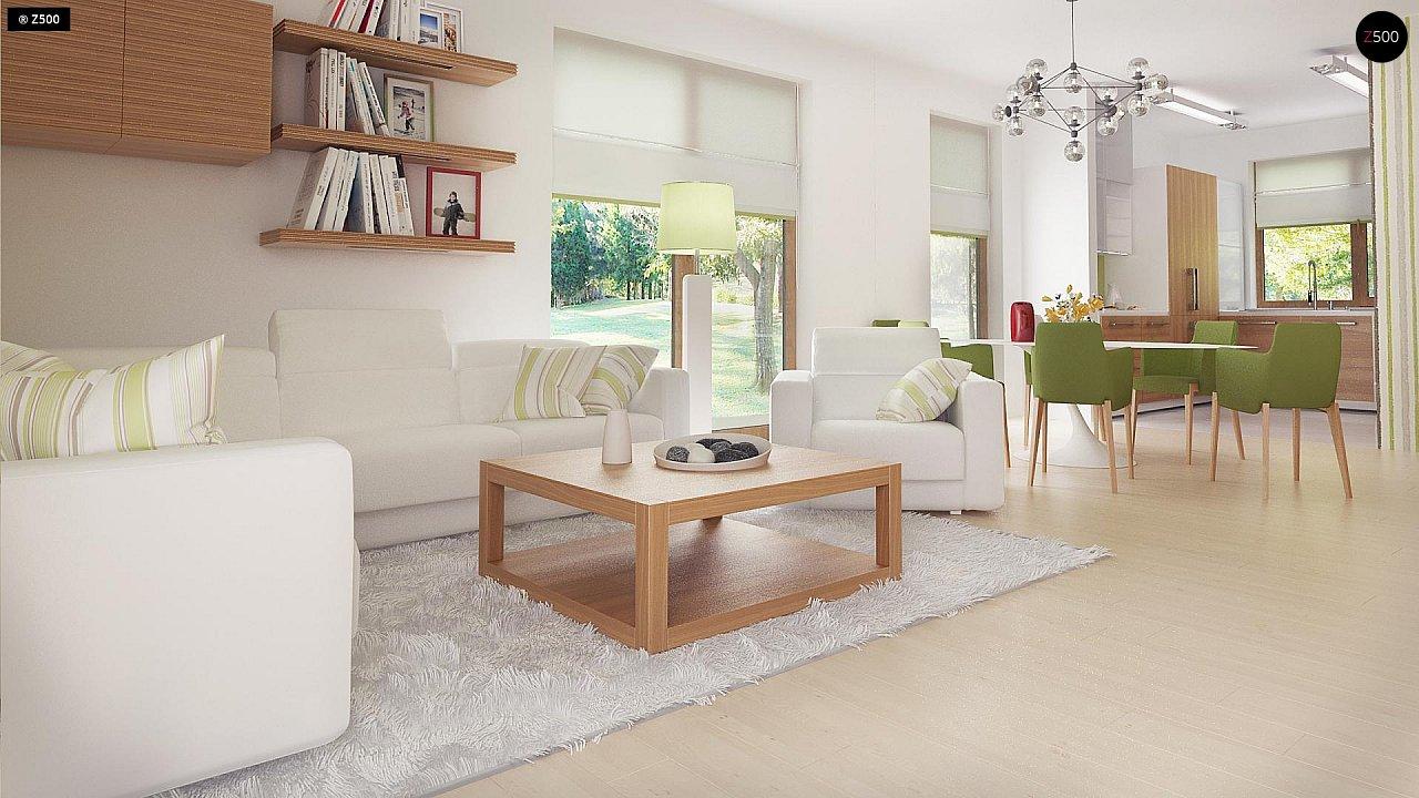 Стильный одноэтажный дом с комфортной крытой террасой 12