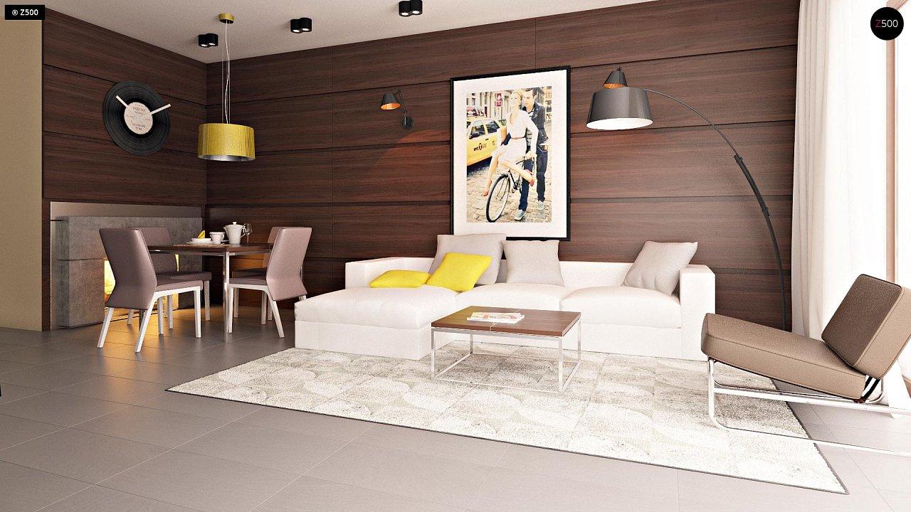 Компактные дома близнецы в современном стиле с уютным интерьером. 4