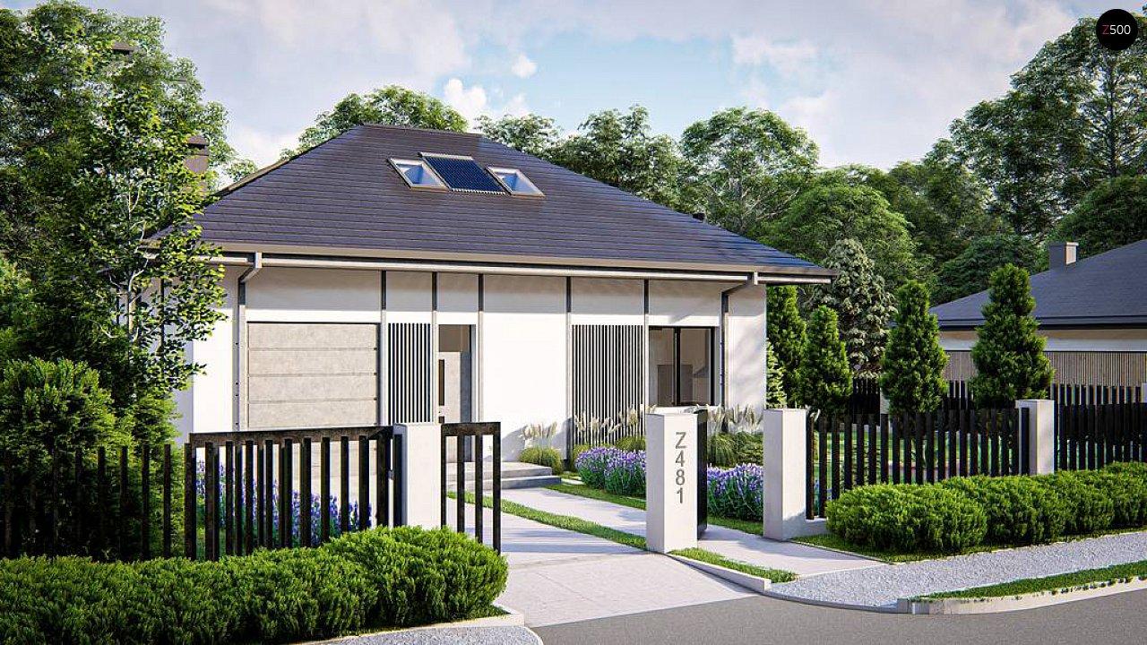 Дом с мансардой, четыре комнаты и гараж 1