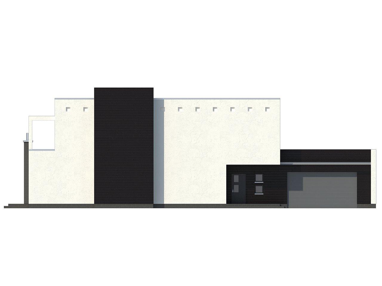 Современный дом кубической формы с террасой над гаражом. - фото 6