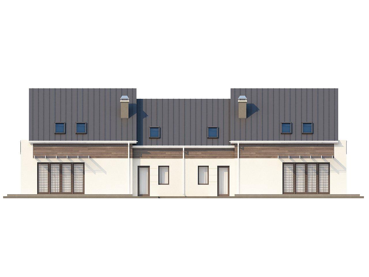Простой и удобный дом для симметричной застройки с боковым гаражом. - фото 4