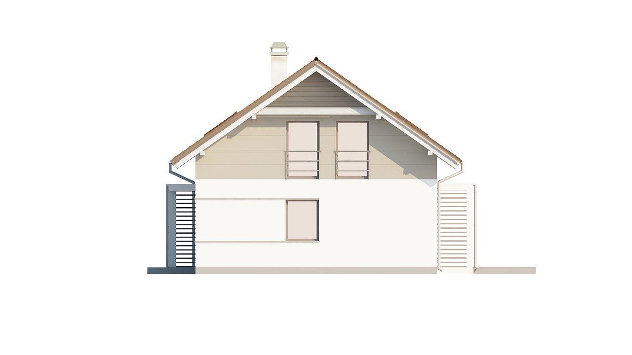 Проект простого и аккуратного дома с дополнительной ночной зоной на первом этаже. 15