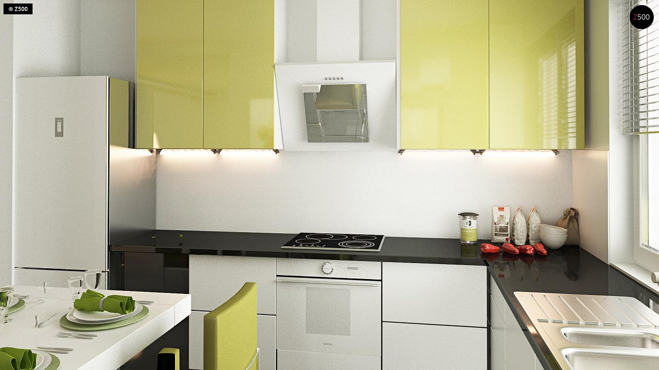 Функциональный и привлекательный дом с гаражом для узкого участка. 11