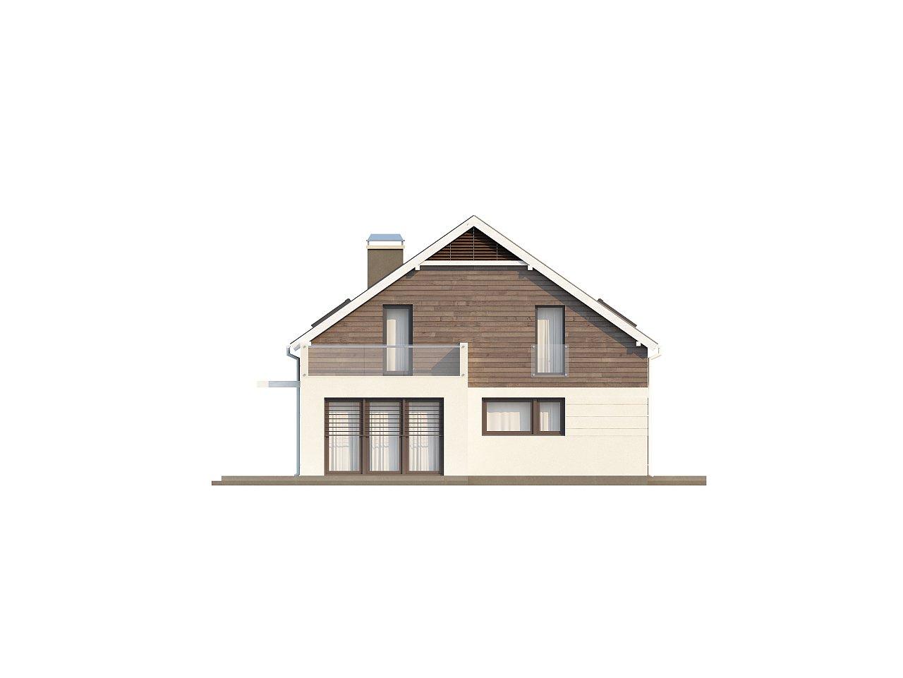 Простой и удобный дом для симметричной застройки с боковым гаражом. - фото 5