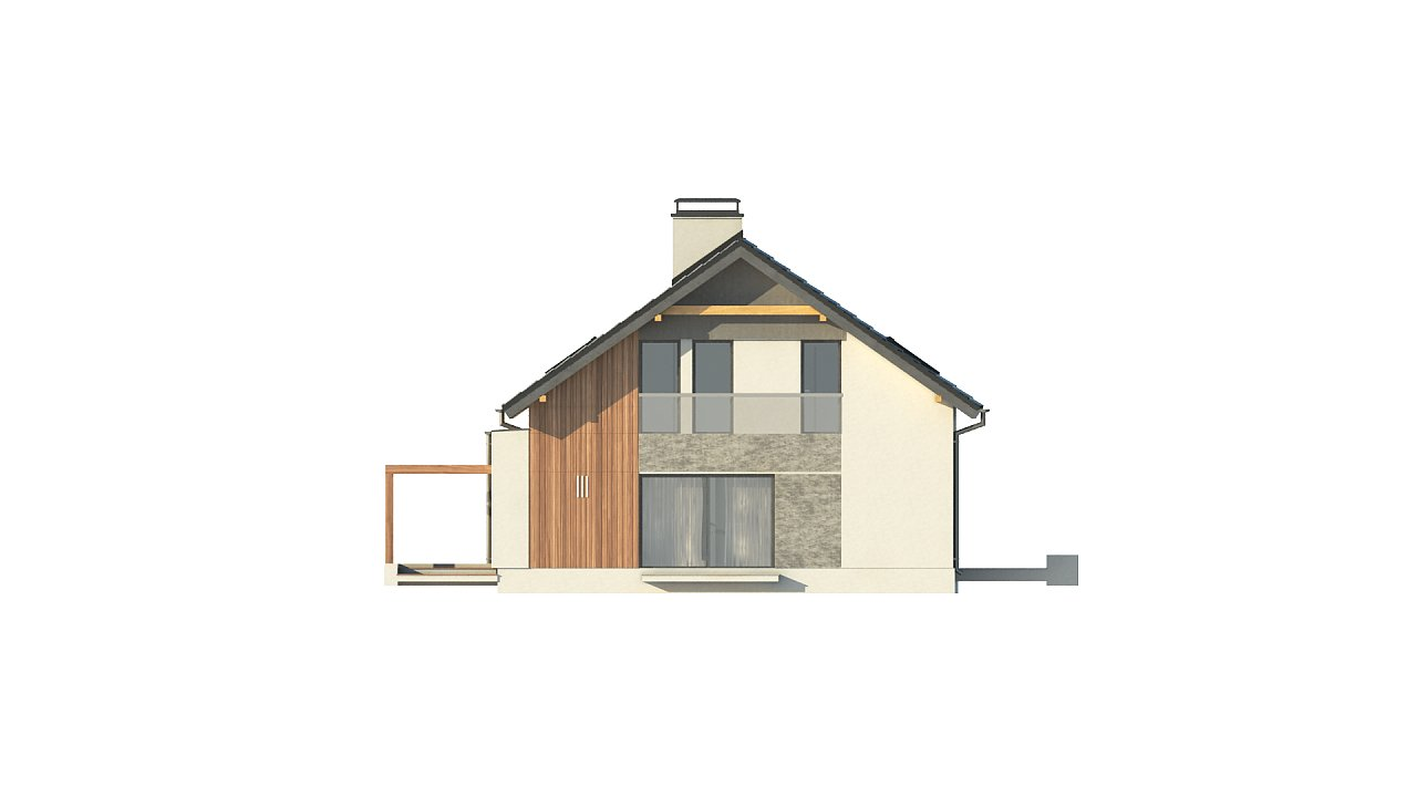 Проект двухсемейного дома с отдельной удобной «квартирой» площадью 58 м2. 5