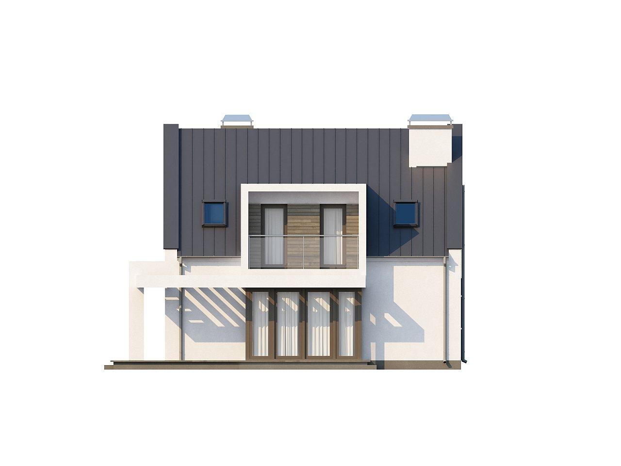 Современный дом с уютным и функциональным интерьером. Интересное сочетание двускатной крыши и кубических форм. - фото 24